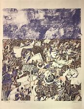 """Field of Scraps"" 1963 (artist's proof) lithograph by Antonio Frasconi"