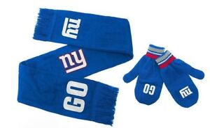 Licensed NFL Youth Scarf & Mittens Set ~ New York Giants