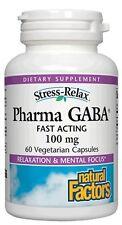 Stress-Relax Pharma GABA Natural Factors 60 Caps