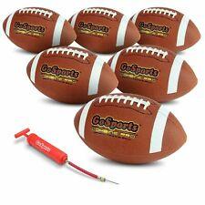 New GoSports Combine Football 6 Pack   Regulation Size Bulk Footballs Set