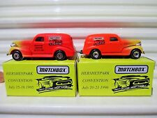 Matchbox 1995 Only HERSHEY TOY SHOW 1939 CHEVY Sedan Delivery Van Nu in Mint Box