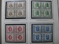 DDR EAST GERMANY Mi. #311-314 scarce used stamp set (blocks of 4)! CV $95.00