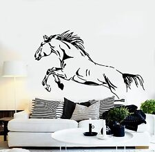 Wall Stickers Vinyl Decal Wild Mustang Jump Horse Racing Big Stallion (EM334)