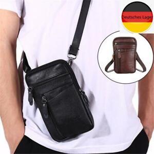 Multifunktions-Umhängetasche aus Leder, Handtasche, Gürteltasche für Männer