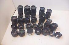 AS IS Lot Camera Lenses vintage 35mm Canon Nikon Minolta Vivitar pentax lens