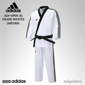 Adidas ADI-OPEN 3S GRAND MASTER Uniform (3-Stripe) Taekwondo TKD Open Dobok