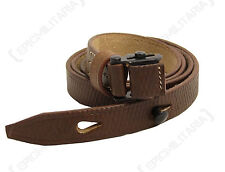 WW2 German Army MP40 Machine Gun LEATHER SLING - Repro Brown Equipment Strap Kit