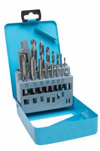 BlueSpot 15 PCE Drill and Tap Set (M3-M12) (2.5-10.2mm)
