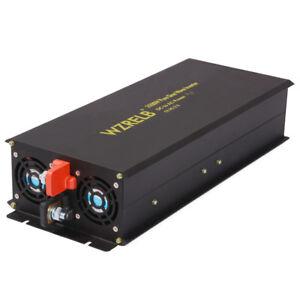 2500W Pure Sine Wave Inverter 24V to 120V DC to AC Power Inverter Converter Car
