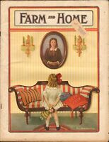 SEPT 1924 FARM AND HOME farming magazine GIRL w/DOLL - FURNITURE