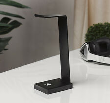 Solid Aluminum Desktop Headphones Hanger Base Stand for Any Size Headphone Black