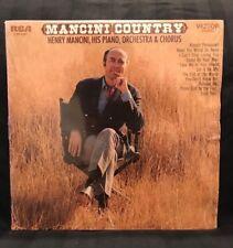 "Henry Mancini Country Vinyl Records Music LP Record Album 12"" Vintage Retro"