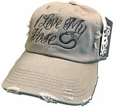 I Love My Hose Cap Firefighter Fire Man Olive green Funny hoes thin red line