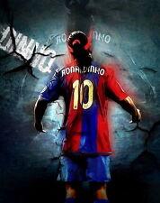 """EVAN 003 Ronaldinho - Barcelona Brazil Soccer football star 14""""x17"""" Poster"""