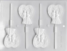Wedding Couple Hard Candy Lollipop Mold from LorAnn #5565 - NEW
