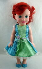 """Disney Ariel Little Mermaid Tollytots Toddler Doll 15 """" with Dress and Shoes"""