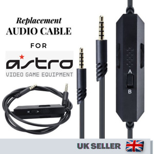 3.5mm Replacement Gaming Headset Audio Cable With Mic For Astro A40 A10 Xbox One