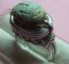 Handcrafted Egyptian Scarabs Sterling Silver 925 Filigree Ring skaisMI17