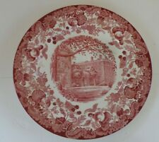 "Wedgwood ""Harvard University-1932 Winthrop House Standish Hall Gore Hall Plate"
