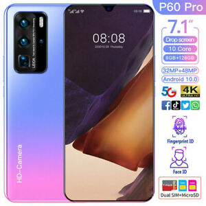 P60 PRO 7.1'' Smartphone Android 10.0 Mobile Phone 8G+128G Dual SIM Card 3G
