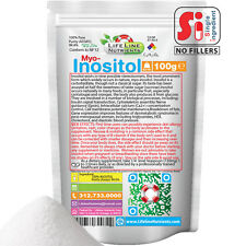 100g (3.5 oz) 100% Pure INOSITOL POWDER in Package - USP, FREE SHIP