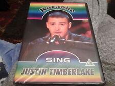 dvd karaoke sing justin timberlake new sealed