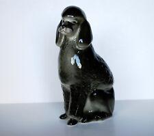Lomonosov PORCELAIN Figurine DOG POODLE BLACK.BIG.Hand Painted
