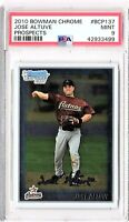 2010 Bowman Chrome Prospects #BCP137 JOSE ALTUVE PSA MINT 9 ROOKIE