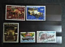 Lot de 5 timbres sur les transports