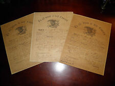 Scarce Set of Three Civil War Discharges for Private Geo. H. Nichols 4th Mass HA