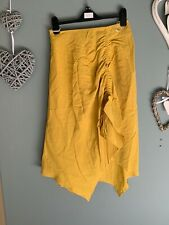 Infinity Yellow Hi Lo Ruched Skirt Size 12