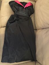 City chic party dress black and pink strapless size L