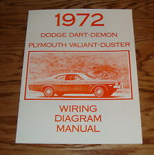 1972 Dodge Dart Demon Plymouth Valiant Duster Wiring Diagram Manual 72