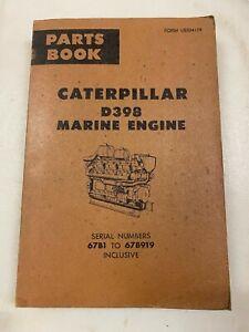 Caterpillar D398 Marine engine parts manual. Genuine Cat book.