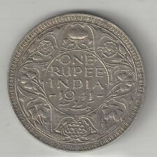 INDIA, BRITISH, 1941(b), 1 RUPEE,  SILVER,  KM#556,  EXTRA FINE+