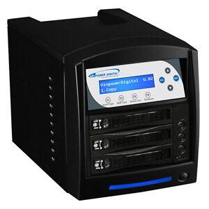 1 to 2 HDD Hard Drive SSD Clone Duplicator Standalone 120MB/Sec HDDSHARKTB-2T-BK