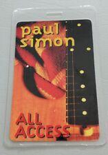 Paul Simon Laminated Backstage Pass Aa