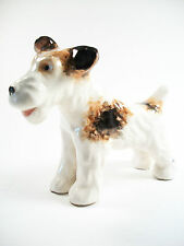 Wire Hair Fox Terrier - Vintage Porcelain Figure - Unsigned - Mid 20th Century
