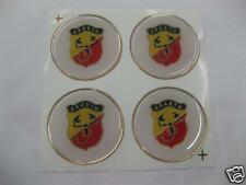 Wheel Center Emblem Set  of 4 for Abarth Fiat 500 600 49mm -NEW- #835