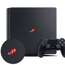 PLAYSTATION PS4 SLIM RED LOGO DECAL STICKER VINYL GLOSSY SHINY x 2