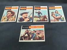 Lot of 5 Western Boots & Saddles 1958 Topps Trading Cards