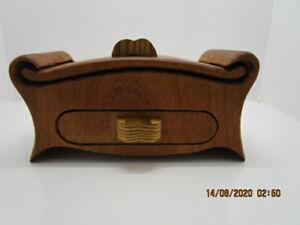 dark brown sliding lid Sapele wood box