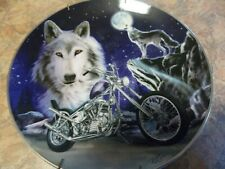 Bradford Exchange,Call Of The Wild Collector Plates,Wolf,Set Of Four