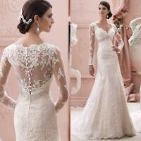 white/ivory Wedding dress Bridal Gown custom size 4-6-8-10-12-14-16-18+