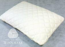 Queen Regular Shape Latex Foam Pillow + Washable Wool & Organic Cotton Protector