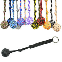 Outdoor Hiking High Strength Paracord Monkey Fist Keychain With Steel Ball