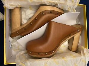 SPORTSGIRL STRUT.. Womens Clogs The Clog Brown/Tan Size 10 RRP $129.95 NWT