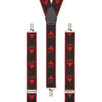 Bass Guitar Music Black Clip On Trouser Braces Elastic Suspenders Handmade UK
