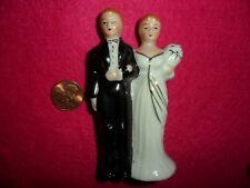 Vintage Bride & Groom Ceramic Miniature Japan