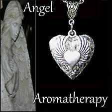 Essential Oil Diffuser Heart Angel Wings Necklace Locket Aromatherapy US Seller